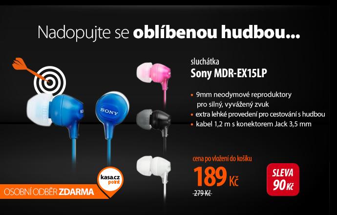 Sluchátka Sony MDR-EX15LP