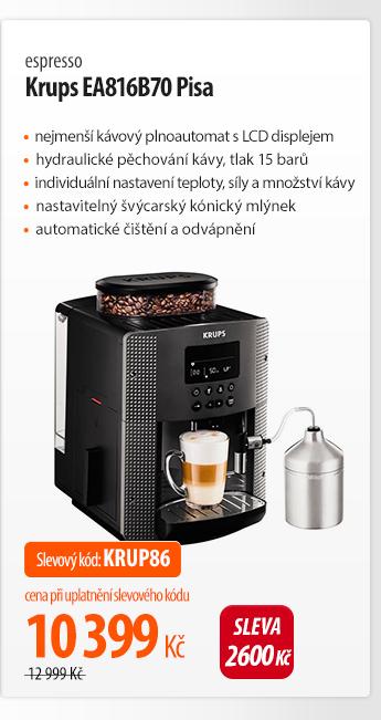 Kávovar Krups EA816B70 Pisa