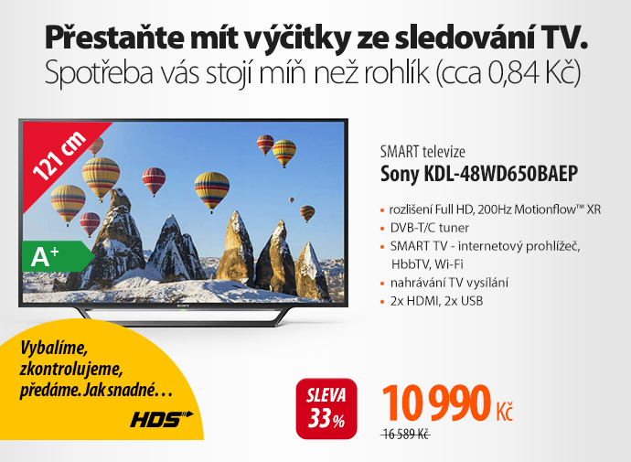 SMART TV Sony KDL-48WD650BAEP