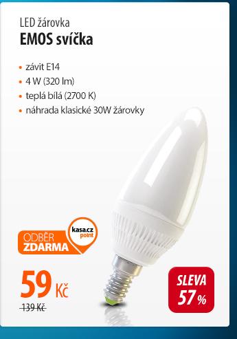 LED žárovka Emos svíčka