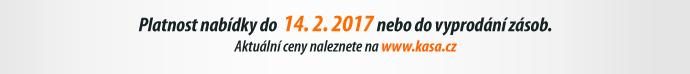 Platnost nabídky do 14. 2. 2017 nebo do vyprodání zásob.